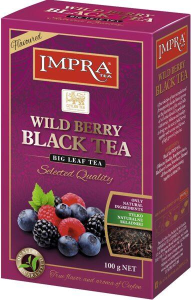 Чёрный чай IMPRA WILD BERRY BLACK TEA 100g