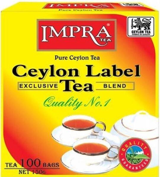 Чёрный пакетированый чай IMPRA Ceylon Label Tea 100 шт