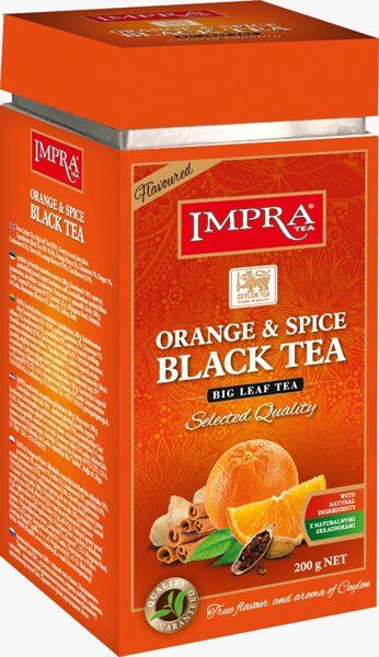 Чёрный чай IMPRA ORANGE&SPICE BLACK TEA Box 200г