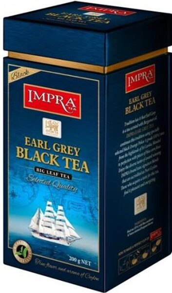 Чёрный чай IMPRA EARL GREY BLACK TEA Box 200г